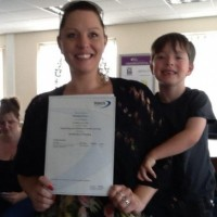 "A proud parent receiving her Level 2 OCN ""- Supporting Your Children's Education Certificate"
