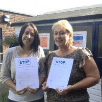 Vicki and Linda receiving their level 2 STOP certificates – really pleased for them and their STOP supervisor (John Rivers) said they are amazing!