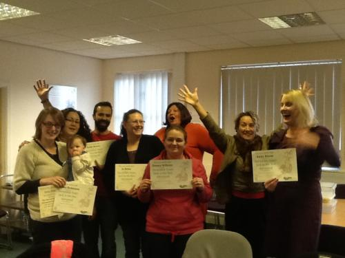 Celebration of the completion of the Incredible Years Advanced parenting group - Colchester Dec 2014.
